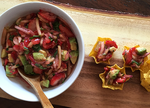 Saladmaster Strawberry Cucumber Avocado Salsa